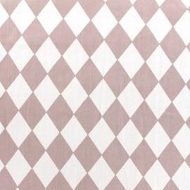 Tissu coton popeline Color Arlequin - vieux rose x 10cm