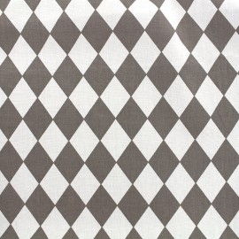 Cotton poplin fabric Color Arlequin - grey x 10cm