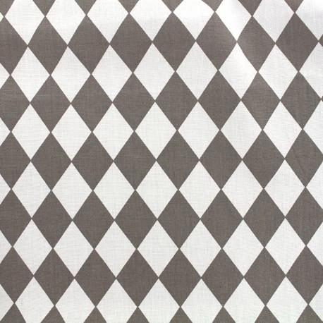 Cotton poplin fabric Arlequin - grey x 10cm
