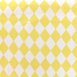 Tissu coton popeline Arlequin - jaune x 10cm