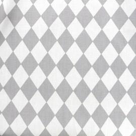 Tissu coton popeline Arlequin - gris clair x 10cm