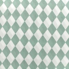 Tissu coton popeline Color Arlequin - vert sauge x 10cm