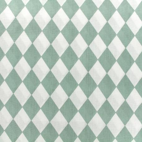 Cotton poplin fabric Arlequin - sauge green x 10cm