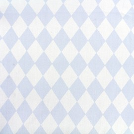 Cotton poplin fabric Color Arlequin - sky blue x 10cm