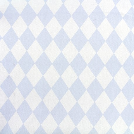 Cotton poplin fabric Arlequin - sky blue x 10cm