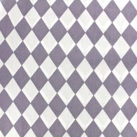 Tissu coton popeline Color Arlequin - parme x 10cm
