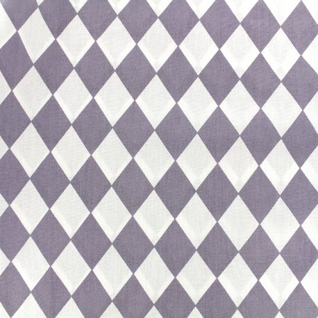 Cotton poplin fabric Arlequin - parma x 10cm