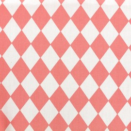 Cotton poplin fabric Color Arlequin - coral x 10cm
