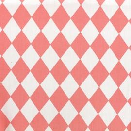 Tissu coton popeline Color Arlequin - corail x 10cm