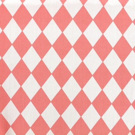 Tissu coton popeline Arlequin - corail x 10cm