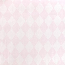 Cotton poplin fabric Color Arlequin - pink x 10cm