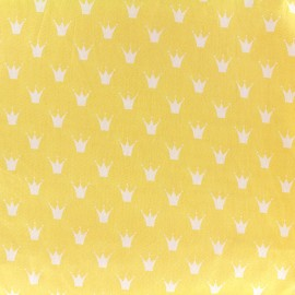 Tissu coton popeline Color Royal - jaune x 10cm