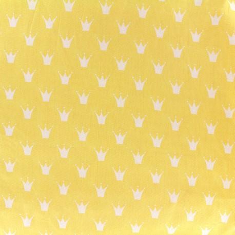 Cotton poplin fabric Royal - yellow x 10cm