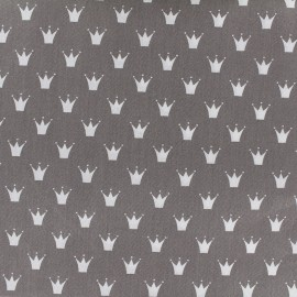 Tissu coton popeline Color Royal - gris x 10cm