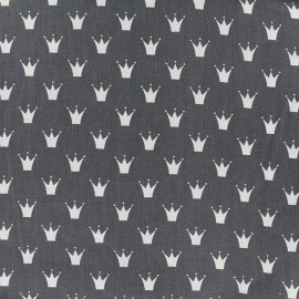Cotton poplin fabric Color Royal - anthracite x 10cm
