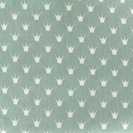Tissu coton popeline Royal - vert sauge x 10cm