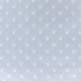 Cotton poplin fabric Royal - sky blue x 10cm