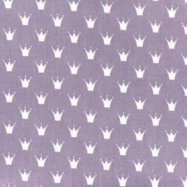 Tissu coton popeline Royal - parme x 10cm