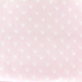 Tissu Oeko-Tex coton popeline Color Royal - rose x 10cm