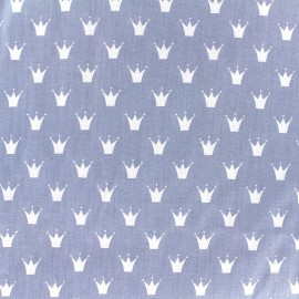 Tissu Oeko-Tex coton popeline Color Royal - bleu x 10cm