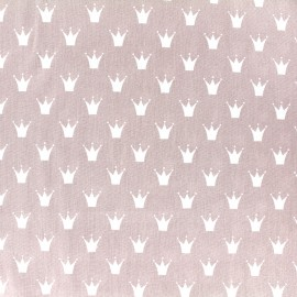 Tissu Oeko-Tex coton popeline Color Royal - vieux rose x 10cm
