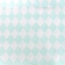 Tissu coton popeline Color Arlequin - vert d'eau x 10cm
