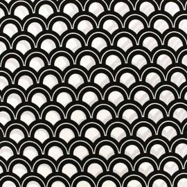 Tissu crêpe Wave - écru x 10cm