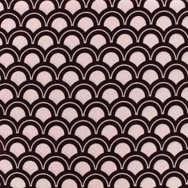 Tissu crêpe Wave - rose x 10cm