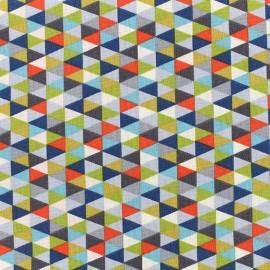 Tissu coton Poppy Triangular - orange x 10cm