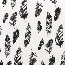 Tissu crêpe Plumes - écru x 10cm