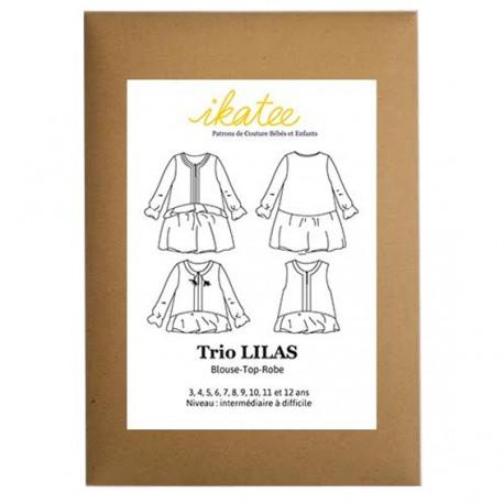 Patron Ikatee trio LILAS - Blouse + Top +Robe  : de 3 à 12 ans