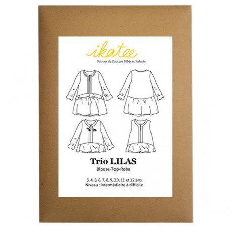 Sewing pattern Ikatee Duo Majorque dress and blouse  : from 3 to 10 years old