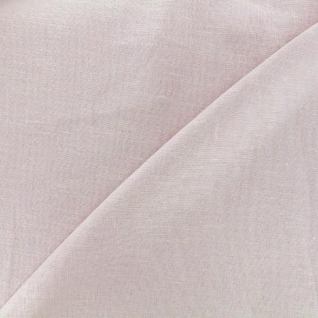 Plain light linen viscose fabric - pink x 10cm