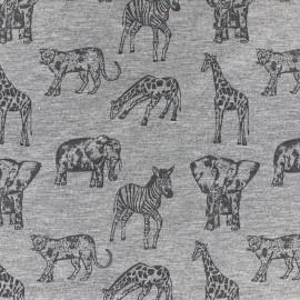 Poppy jersey fabric Safari - grey x 10cm