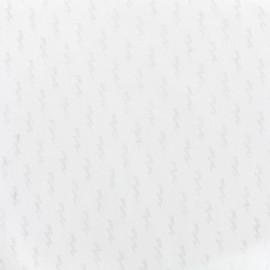 Tissu voile de coton dévoré Flash - blanc x 10cm