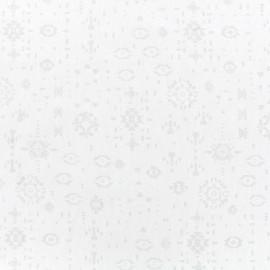 Tissu voile de coton dévoré Maya - blanc x 10cm