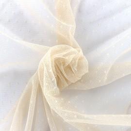 Bran mini point d'esprit tulle fabric - nude x 10cm