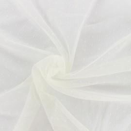 Bran mini point d'esprit tulle fabric - ecru x 10cm