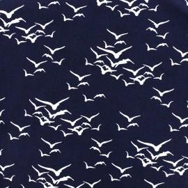 Viscose fabric Envol - navy x 10cm