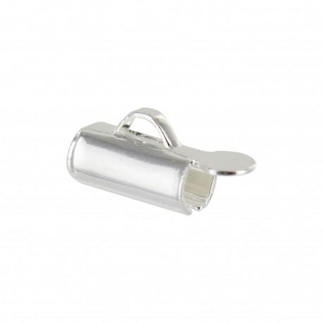Embout pour bracelet en tissage de perles 9 mm - argenté