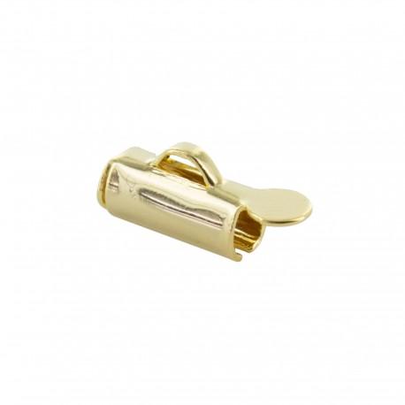 Slide end tube for bead weaving 9 mm - gold