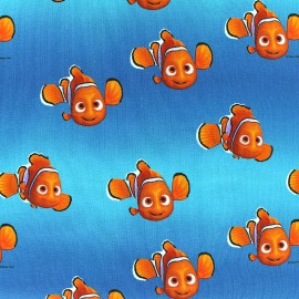 Tissu jersey Disney Nemo - bleu x 15cm