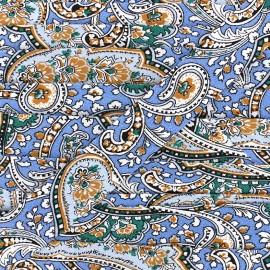 Biais motif cachemire 25 mm - bleu x 1m