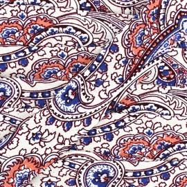 Biais motif cachemire 25 mm - crème x 1m