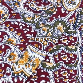 Biais motif cachemire 25 mm - bordeaux x 1m