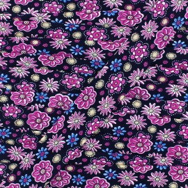 Bias Flower Power 25 mm - navy x 1m