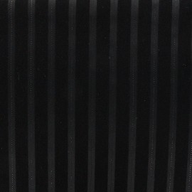 ♥ Coupon 200 cm X 145 cm ♥ Tissu tailleur Touquet - noir