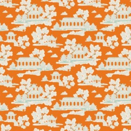 ♥ Coupon 90 cm X 110 cm ♥  Tissu coton Tilda Sunny park - ginger