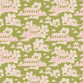 Tilda cotton fabric Sunny park - green x 10cm