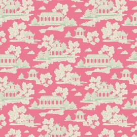Tilda cotton fabric Sunny park - pink x 10cm